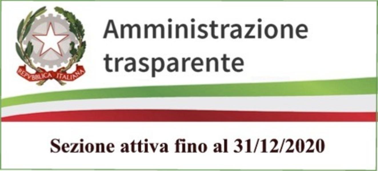 AMMINISTRAZIONE TRASPARENTE FINO AL 31/12/2020